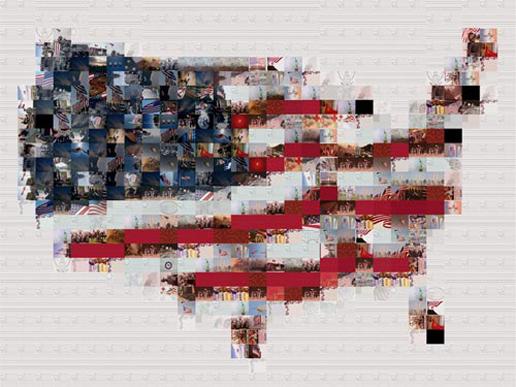 United State Of America USA Flag Pictures - Us map american flag