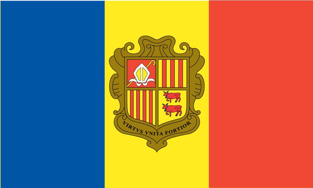 Andorra Flag Vector