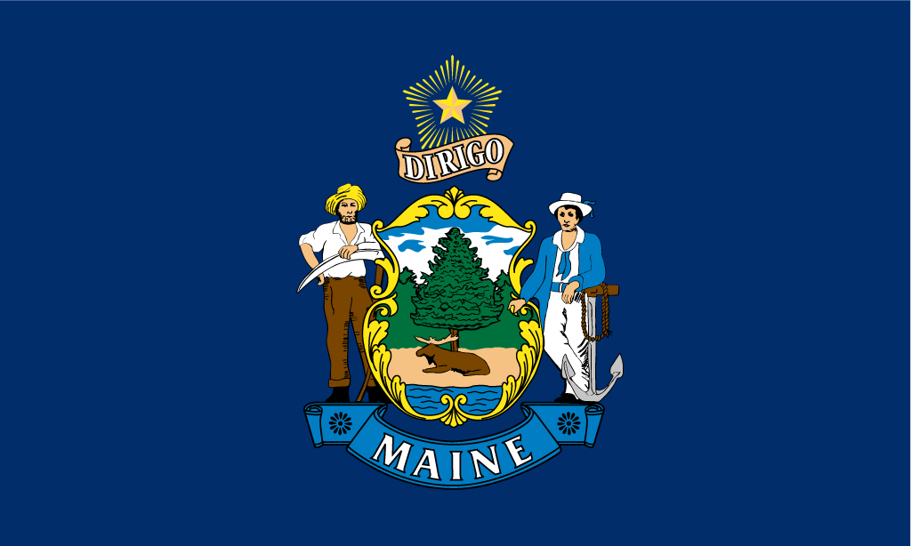 Maine Flag Related Keywords Amp Suggestions  Maine Flag
