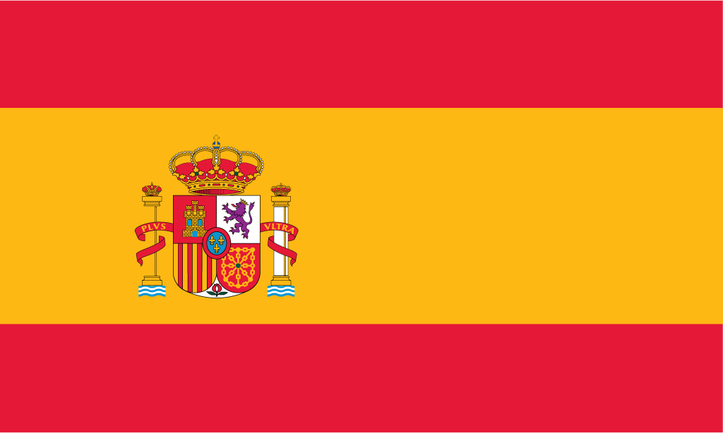 Slobbery image within printable spanish flag