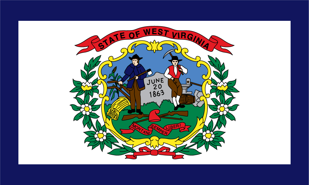 West Virginia USA Flag Pictures - Va which state in usa